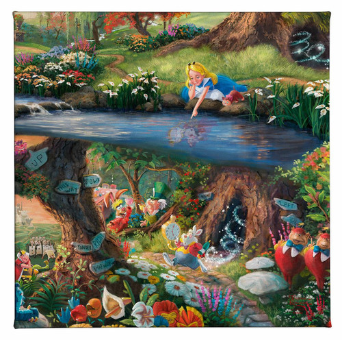 Alice in Wonderland Gallery Wrapped Canvas by Thomas Kinkade Studios