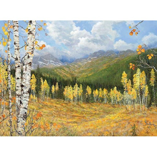 Aspen Gold Original Acrylic Painting by Valeria Yost