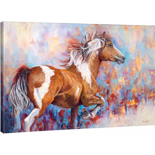 Wildfire Paint Horse Gallery Wrapped Canvas by Valeria Yost