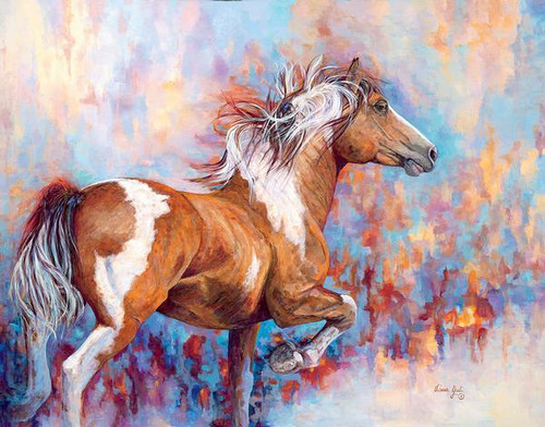 Wildfire Paint Horse Original Acrylic Painting by Valeria Yost