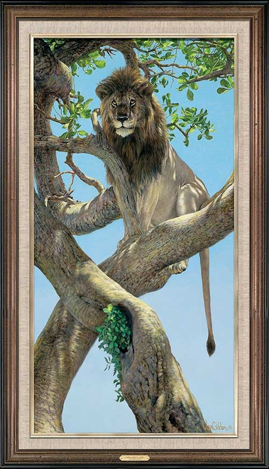 High and Mighty Lion Limited Edition Canvas by Ron Van Gilder