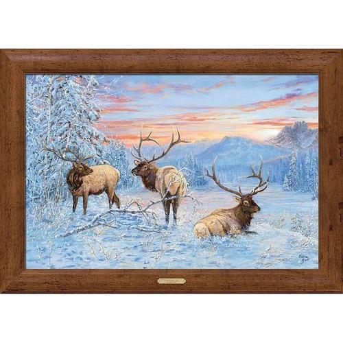Line Shack Elk Framed Gallery Canvas by Valeria Yost