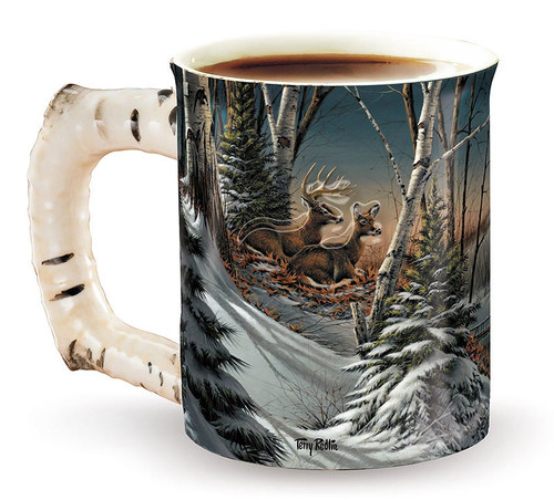 Evening With Friends Set of 4 Sculpted Coffee Mugs by Terry Redlin