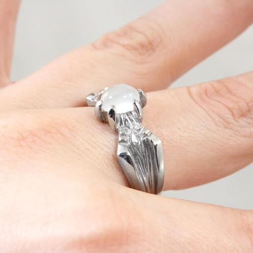 Lord of the Rings Haradrim Moonstone Ring in Sterling Silver