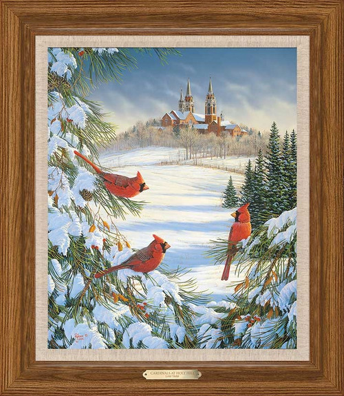 Cardinals at Holy Hill Limited Edition Canvas by Sam Timm