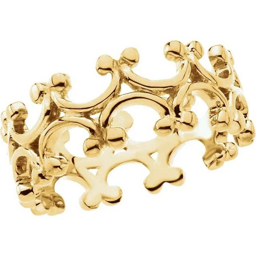 Fashion Design Band in 18K Yellow Gold