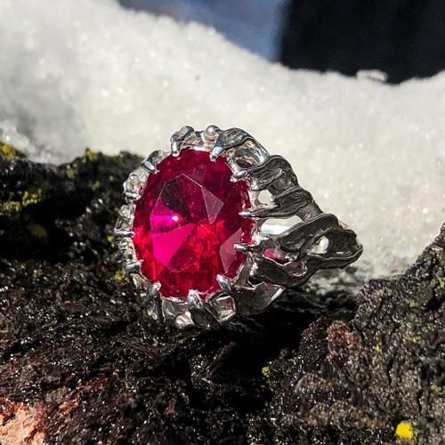 Narya Gandalf Ring in Sterling Silver