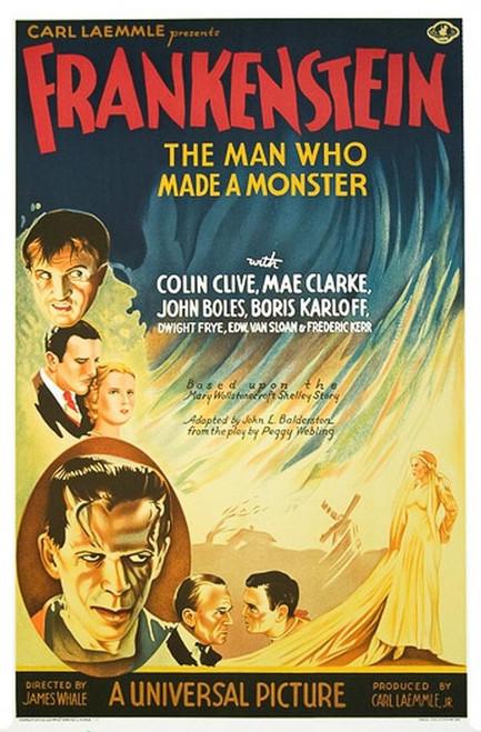 Frankenstein Fine Art Poster Lithograph