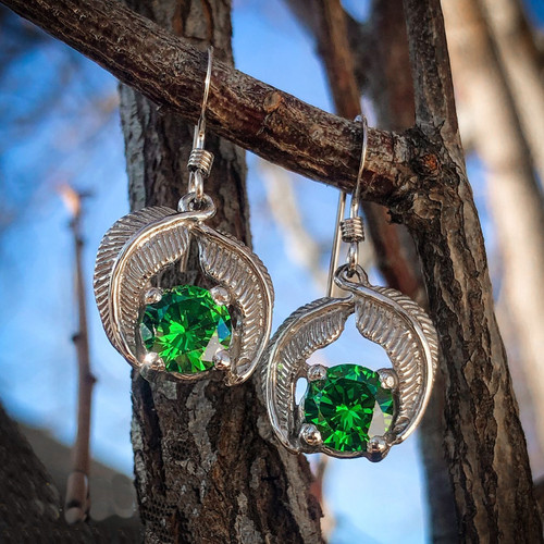 Elven Realms Earrings in Sterling Silver