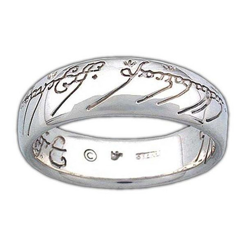 Sterling Silver The One Ring of Power Lord of the Rings