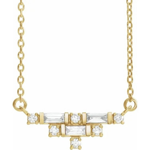 Art Deco Diamond Necklace in 14k Gold