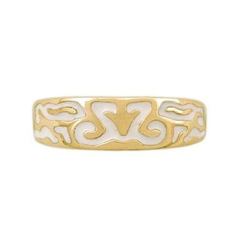 Ladies Enamel Spirit Band in 14k Gold