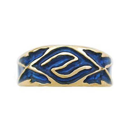 Ladies Enamel Water Band in 14k Gold