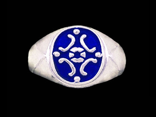Medieval Signet Ring in Sterling Silver