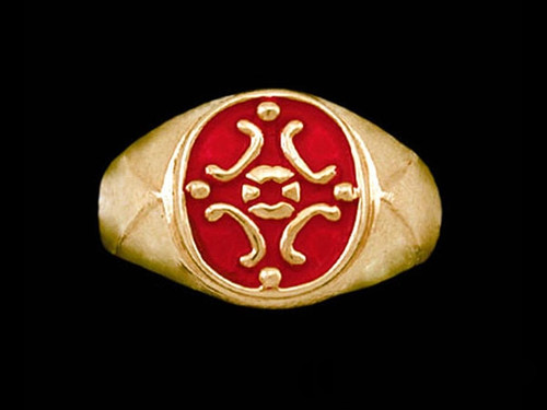 Medieval Signet Ring in 14k Yellow Gold