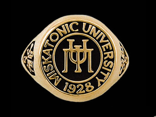 Miskatonic University Class Ring in 14k Yellow Gold