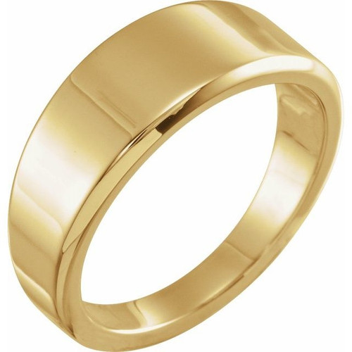 Tapered Stackable Ring in 18k Gold