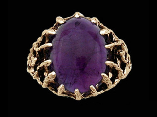 Medieval Royal Lord's Ring with Amethyst Gemstone
