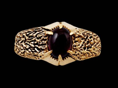 Fire Element Garnet Ring is 14k Gold