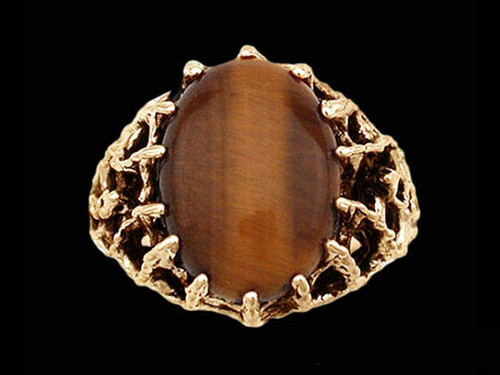 Medieval Voyaging Lord's Ring with Tiger's Eye