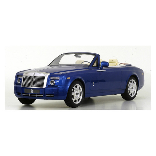 Rolls Royce Phantom 2009 Drophead Coupe Metropolitan Blue 1:8 Scale Model