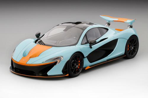 McLaren P1 2014 Blue Orange 1:12 Scale Model by TSM