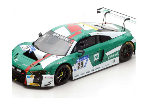 Audi R8 LMS No.29 Sport Team Land Winner 2017 Nürburgring 24H 1:12 Scale Model by Spark