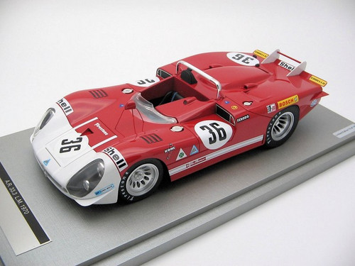 Alfa Romeo 33.3 Coda Lunga Le Mans 24 hour 1970 Car No 36 1:18 Scale by Tecnomodel
