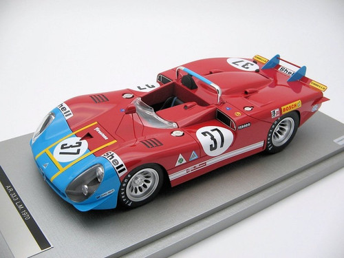 Alfa Romeo 33.3 Coda Lunga Le Mans 24 hour 1970 Car No 37 1:18 Scale by Tecnomodel