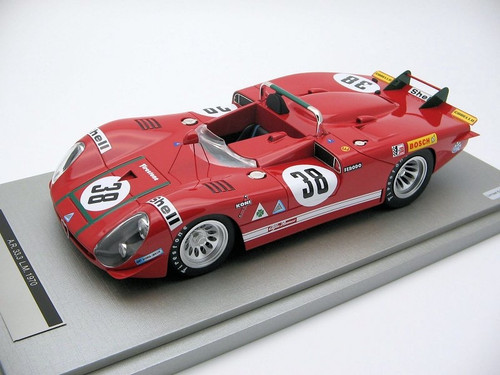 Alfa Romeo 33.3 Coda Lunga Le Mans 24 hour 1970 Car No 38 1:18 Scale by Tecnomodel