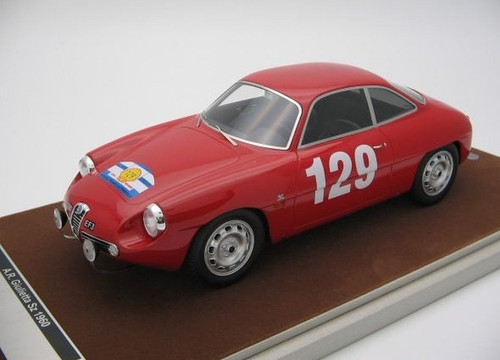 Alfa Romeo Giulietta SZ Zagato 1960 Tour de France No. 129 Car 1:18 Scale Model by Tecnomodel