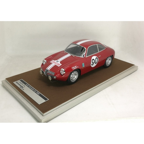 Alfa Romeo Giulietta SZ Zagato 1960 Tour de Corse No. 90 Car 1:18 Scale Model by Tecnomodel