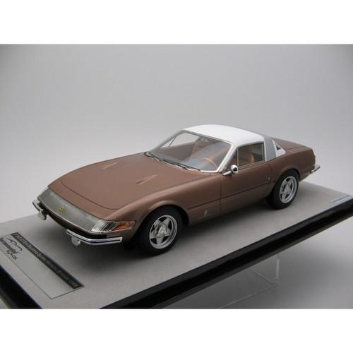 Ferrari Metallic Bronze 365 GTB/4 Daytona Coupe 1969 Speciale 1:18 Scale Model by Tecnomodel