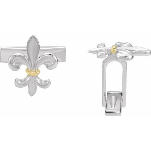Fleur de Lis Cufflinks in Sterling Silver