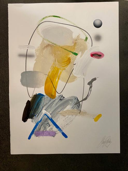 Untitled 17 Acrylic on Paper Juan Sanchez -Juarez