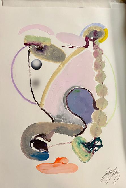 Untitled 19 Acrylic on Paper Juan Sanchez-Juarez