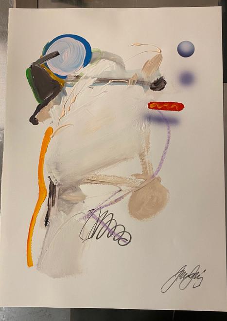 Untitled 21 Acrylic on Paper Juan Sanchez-Juarez