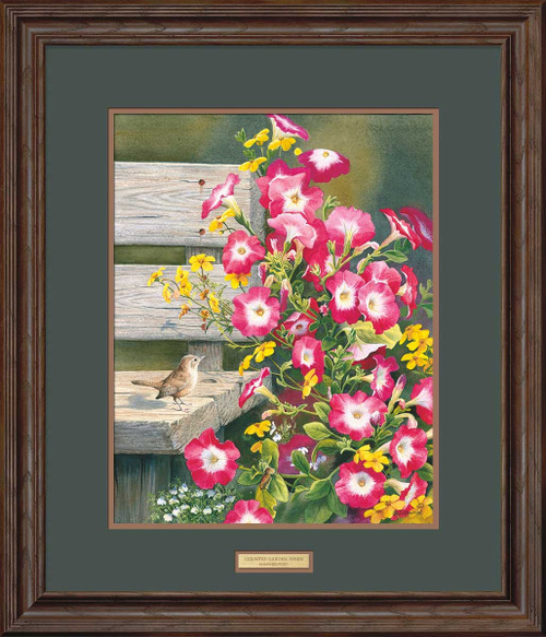 Country Garden Wren Limited Edition Art Print on Paper  by Susan Bourdet