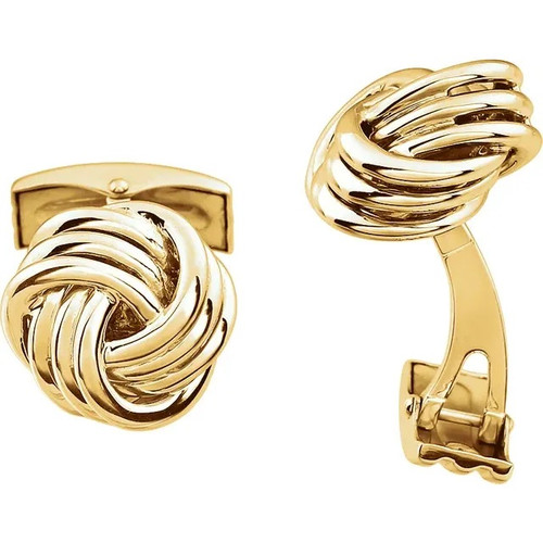 14k Gold Wire Knot Cufflinks
