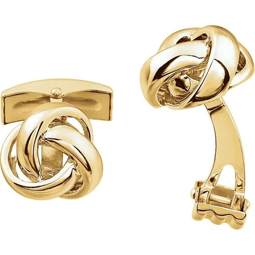 Knot Cufflinks in 14k Gold