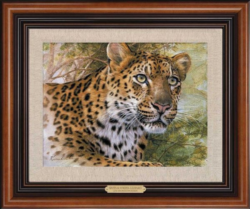 Spots and Stripes Leopard Framed Limited Edition Premier Canvas Art Print by Lee Kromschroeder