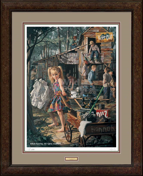 The Clubhouse Framed Limited Edition Art Print on Paper by Bob Byerley