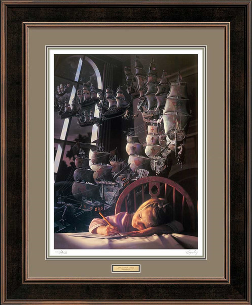 Once Upon A Time Limited Edition Framed Art Print by Bob Byerley