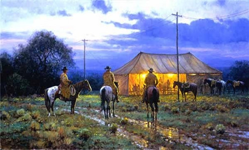 Cowboy Revival Limited Edition Canvas by Martin Grelle