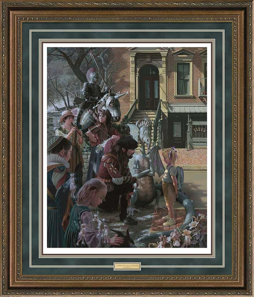 That's Why I was Late For School Limited Edition Art Print by Bob Byerley