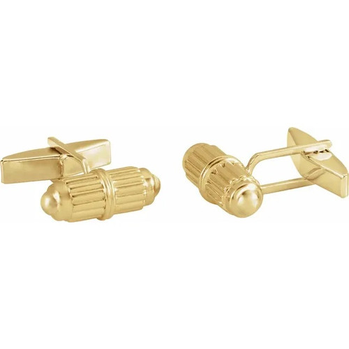 14k Gold Barrel Cufflinks