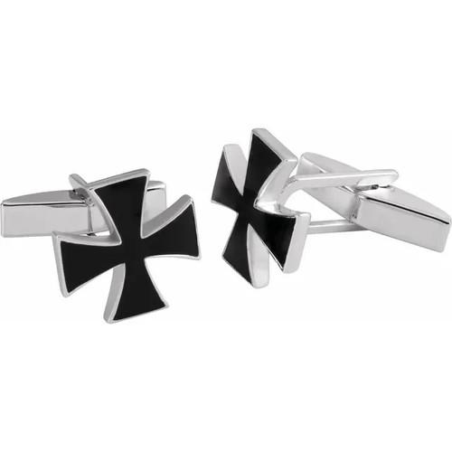 Sterling Silver Maltese Cross Cufflinks