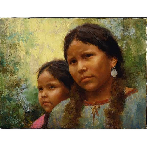 Howard Terpning Sisters Giclée on Canvas Portrait Series