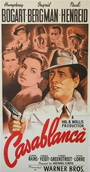 Casablanca 3 Sheet Fine Art Poster Lithograph