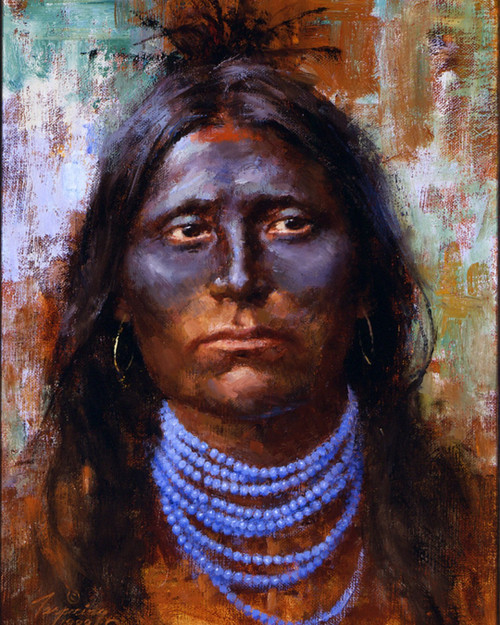 Howard Terpning War Paint Giclee on Canvas Portrait Series